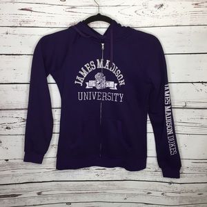 JMU large zip up hoodie